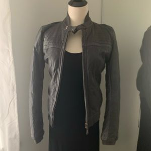 Diesel reversible leather bomber jacket